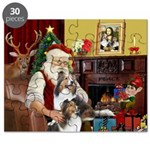 Santa / 2 Shelties (dl) Puzzle