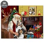 Santa / 2 Shelties (dl) Puzzle
