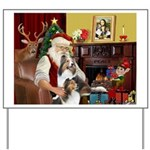 Santa / 2 Shelties (dl) Yard Sign