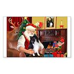 Santa's Bi Black Sheltie Sticker (Rectangle)