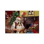 Santa's Sheltie (SW) Rectangle Magnet
