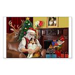 Santa's Sheltie (SW) Sticker (Rectangle 10 pk)