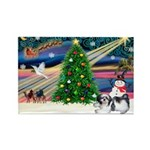 XmasMagic/Shih Tzu Rectangle Magnet