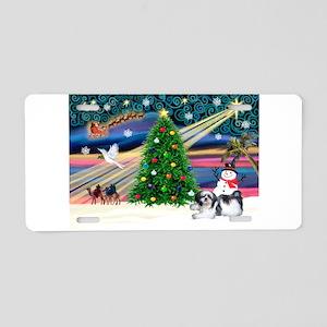 XmasMagic/Shih Tzu Aluminum License Plate