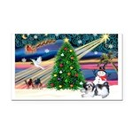 XmasMagic/Shih Tzu Rectangle Car Magnet