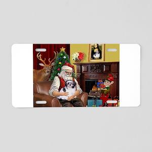 Santa's Shih Tzu (#1) Aluminum License Plate