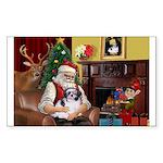 Santa's Shih Tzu (#1) Sticker (Rectangle)