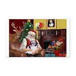 Santa's Shih Tzu (#1) Rectangle Car Magnet