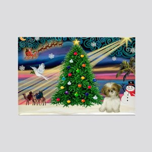 XmasMagic/Shih Tzu pup Rectangle Magnet