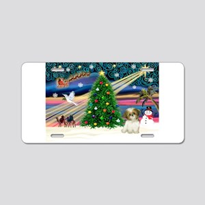 XmasMagic/Shih Tzu pup Aluminum License Plate