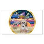 XmasStar/Shih Tzu Sticker (Rectangle 50 pk)