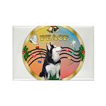 XmasMusic 3/Sib Husky Rectangle Magnet (10 pack)