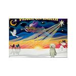 XmasStar/Sib Husky Rectangle Magnet (10 pack)