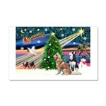 Xmas Magic & S Husky Car Magnet 20 x 12