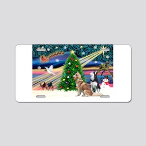 Xmas Magic & S Husky Aluminum License Plate