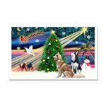 Xmas Magic & S Husky Rectangle Car Magnet