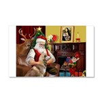 Santa's Red Husky Car Magnet 20 x 12