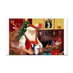 Santa's Sib Husky Rectangle Car Magnet