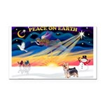 XmasSunrise/ Silky T Rectangle Car Magnet