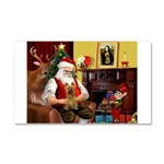 Santa's Silky Terrier Car Magnet 20 x 12