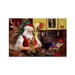 Santa's Silky Terrier Rectangle Magnet (10 pack)