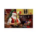 Santa's Silky Terrier Rectangle Magnet