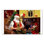 Santa's Silky Terrier Sticker (Rectangle 10 pk)