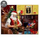 Santa's Silky Terrier Puzzle
