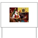 Santa's Silky Terrier Yard Sign
