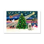 Xmas Magic & Skye Terrier Car Magnet 20 x 12