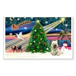 Xmas Magic & Skye Terrier Sticker (Rectangle 50 pk
