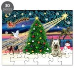 Xmas Magic & Skye Terrier Puzzle