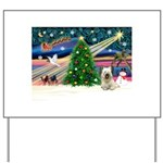 Xmas Magic & Skye Terrier Yard Sign