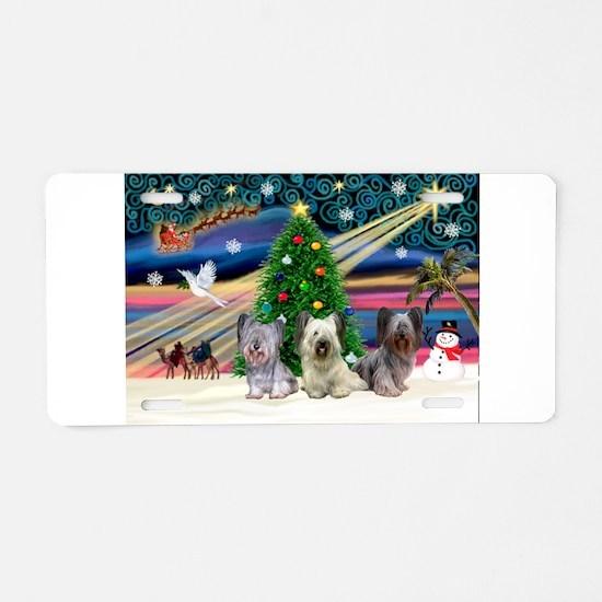 Xmas Magic & Skye Trio Aluminum License Plate