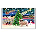 XmasMagic/Tibetan Spaniel Sticker (Rectangle 50 pk