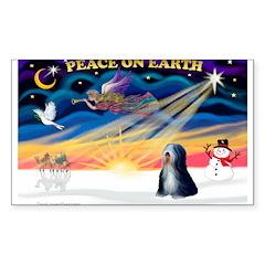 XmasSunrise/Tibet Ter Sticker (Rectangle)