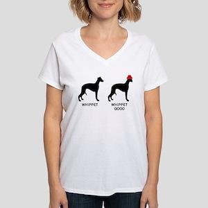 WHIPPET, WHIPPET GOOD! Women's V-Neck T-Shirt