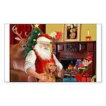 Santa's Vizsla Sticker (Rectangle 10 pk)
