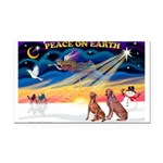 XmasSunrise/2 Weimaraners Rectangle Car Magnet