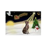 Night Flight/Weimaraner #2 Rectangle Magnet (10 pa