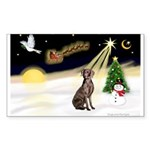 Night Flight/Weimaraner #2 Sticker (Rectangle)
