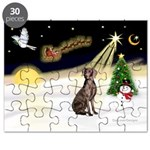 Night Flight/Weimaraner #2 Puzzle