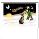 Night Flight/Weimaraner #2 Yard Sign