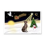 Night Flight/Weimaraner #2 Rectangle Car Magnet