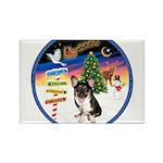 XmasSigns/Corgi Pup (Z) Rectangle Magnet
