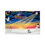 XmasSunrise/Corgi Pup Rectangle Magnet (10 pack)