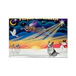 XmasSunrise/Corgi (BM) Rectangle Magnet (10 pack)