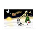 Night Flight/Corgi (BM) Rectangle Car Magnet