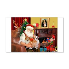Santa's 2 Corgis (P2) Car Magnet 20 x 12