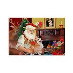 Santa's 2 Corgis (P2) Rectangle Magnet (10 pack)